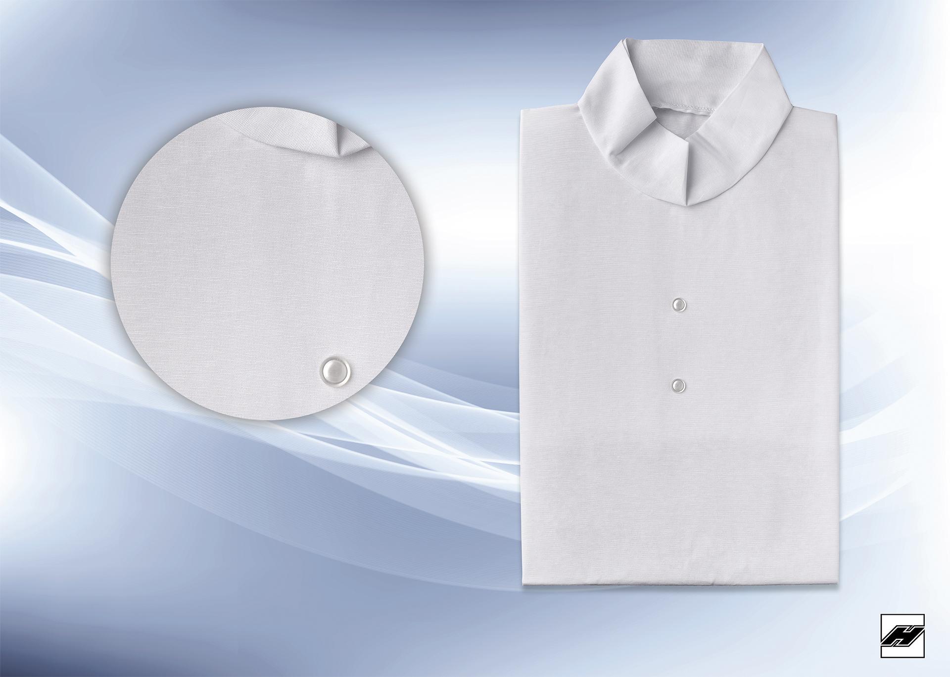 Damenkleid 250 HT weiß, Schalkragen